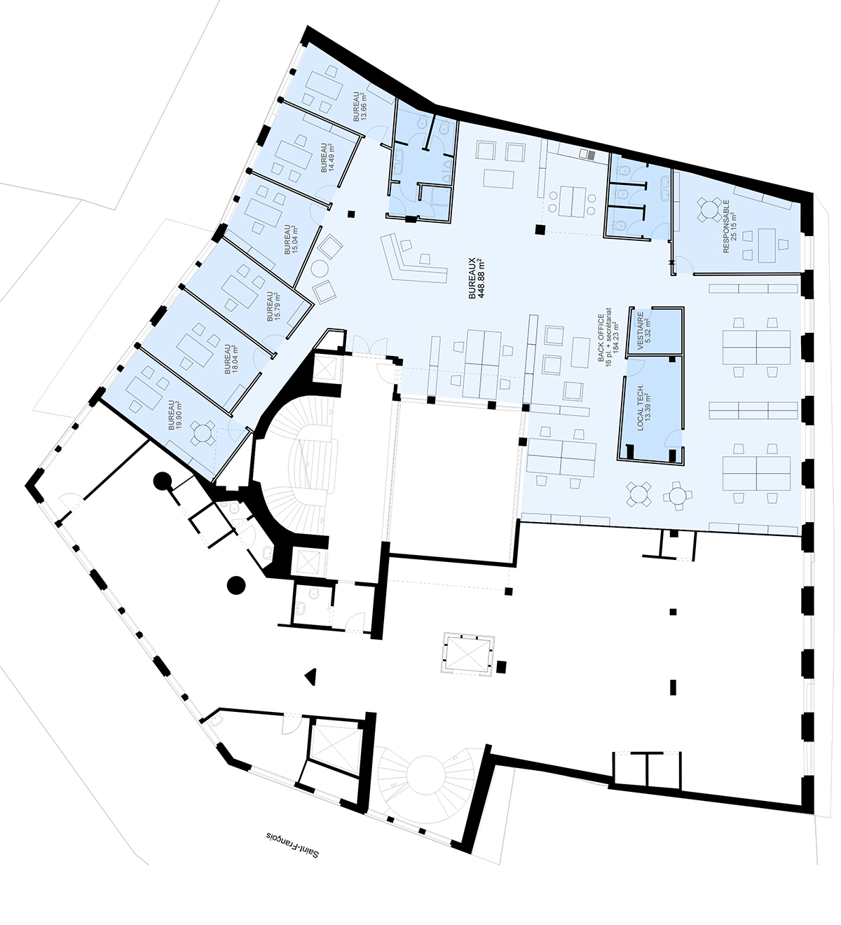 Place St-François 5, Lausanne - Plan Entresol v1