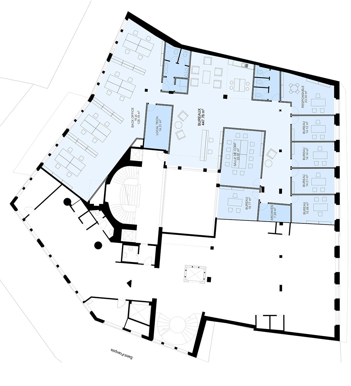 Place St-François 5, Lausanne - Plan Entresol v2