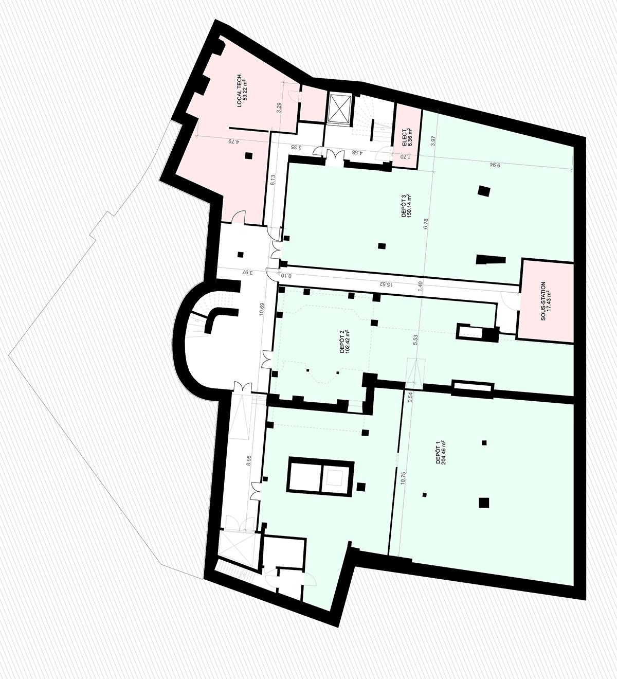 Place St-François 5, Lausanne - Plan sous-sol 2