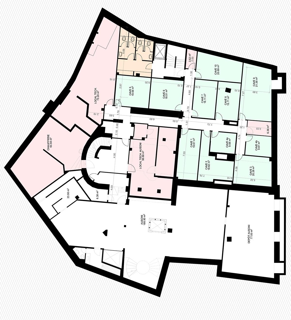 Place St-François 5, Lausanne - Plan sous-sol 1